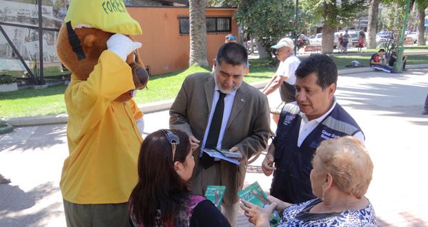 Gobernador de Quillota, en compañía del director de CONAF Región de Valparaíso, Héctor Correa, y Forestín, efectuaron una nueva campaña de prevención de incendios forestales.
