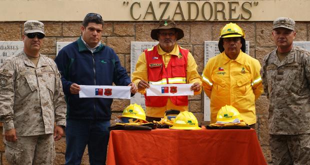 """CONAF capacitó a 60 uniformados de la 2da Brigada Acorazada """"Cazadores"""", perteneciente a la VI División de Ejército, en combate a incendios forestales."""