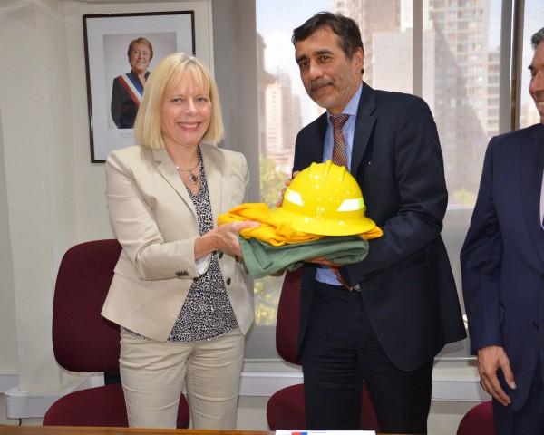 Embajadora EE.UU y Director CONAF