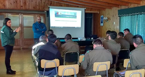 Las charlas consideraron la exposición de estadísticas regionales sobre uso del fuego y la utilización de la plataforma SAQ.