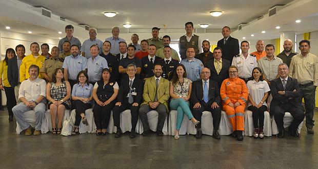 Diecinueve profesionales del ámbito de la seguridad, forestal y ambiental, provenientes de América Latina y el Caribe participan del 3.er curso internacional de Gestión contra Incendios Forestales.