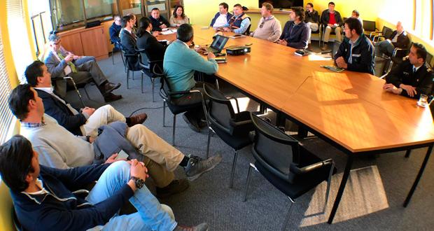 La reunión se realizó en dependencias de la Gobernación Provincial de San Antonio.