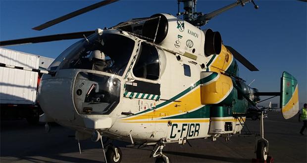 Kamov KA 32, uno de los modelos de helicópteros más usado en el mundo para el combate de incendios forestales.