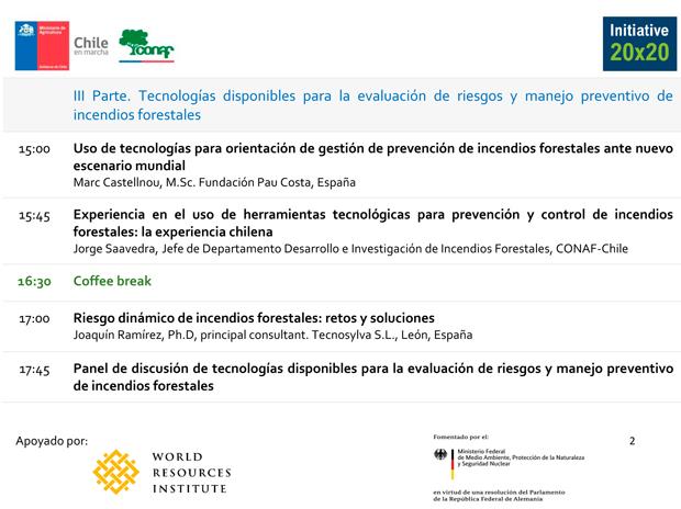 Seminario Planificación y Prevención de Incendios de Paisaje y el rol de la Restauración Post Incendios