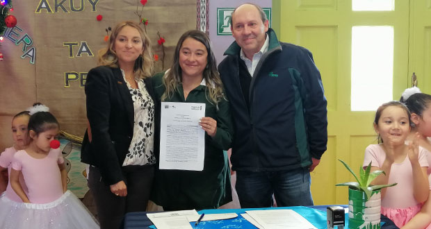 En el Jardín Infantil Lobito Feroz de Puerto Aysén se llevó a cabo la firma de convenio de colaboración