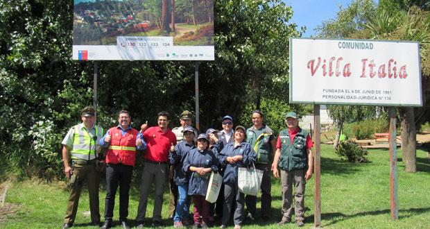 El objetivo de la actividad fue entregar recomendaciones preventivas a los automovilistas que transitaban desde Concepción hacia Penco y Tomé.