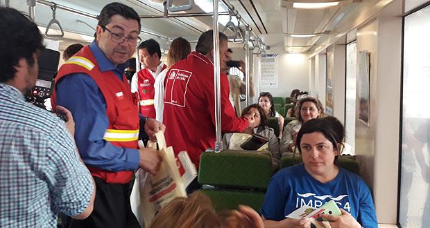 El lugar escogido por las autoridades para realizar esta actividad de prevención fue la estación intermodal que tiene Fesur en Concepción, donde circulan pasajeros que se dirigen hacia Talcahuano, Coronel, Chiguayante, Hualqui, Laja y San Rosendo.